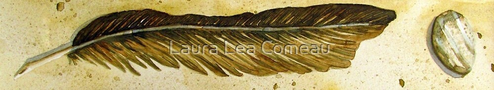 Rock Feather Sand by Laura Lea Comeau