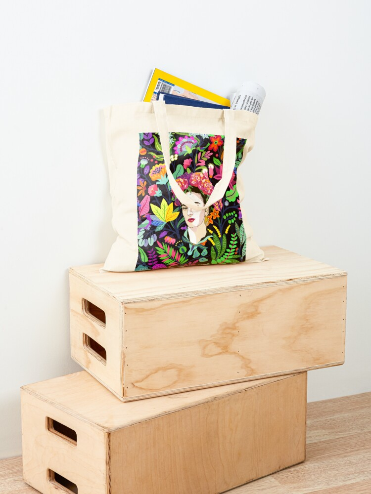 Alternate view of Frida in Bloom Tote Bag