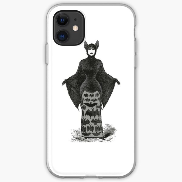 Victorian Bat Woman | Victorian Halloween Costume | Victorian Bat Costume | iPhone Soft Case