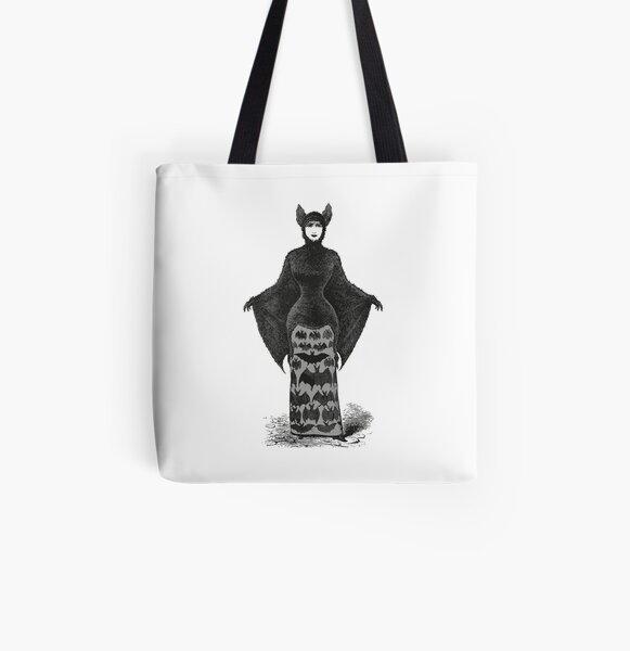 Victorian Bat Woman | Victorian Halloween Costume | Victorian Bat Costume | All Over Print Tote Bag