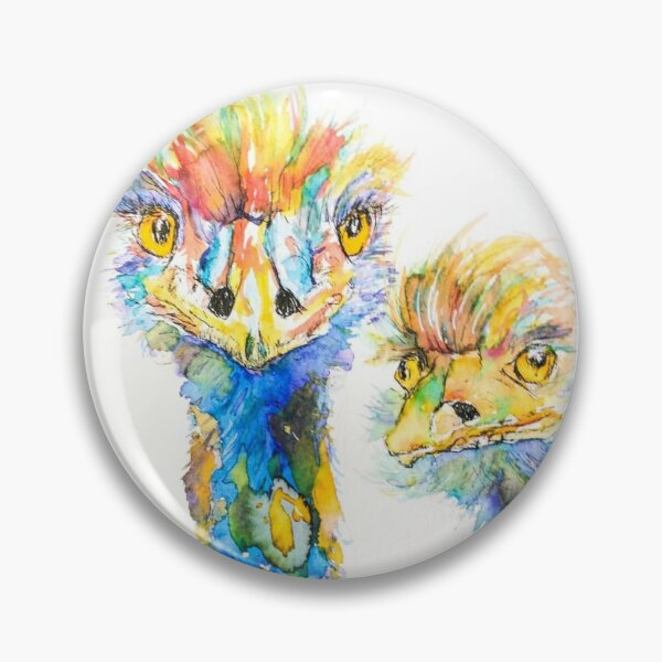 We've got our eyes on you! Colorful emus. Pin