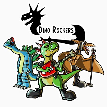 Dino Rockers Band by KimboDragon