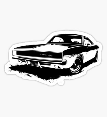 Charger R/T Stencil Sticker