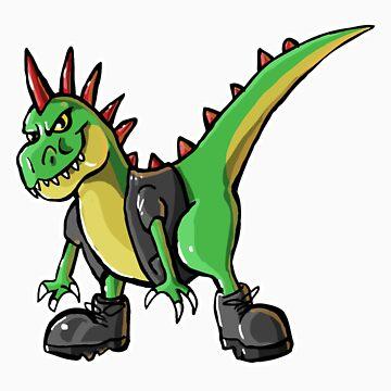 Rex the Punk Rock T-rex by KimboDragon