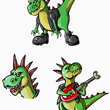 Rex Stickers by KimboDragon