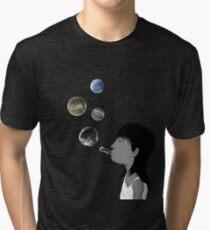Blowing planets Tri-blend T-Shirt