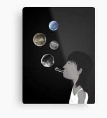Blowing planets Metal Print