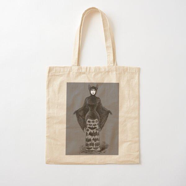 Victorian Bat Woman   Victorian Halloween Costume   Victorian Bat Costume   Cotton Tote Bag