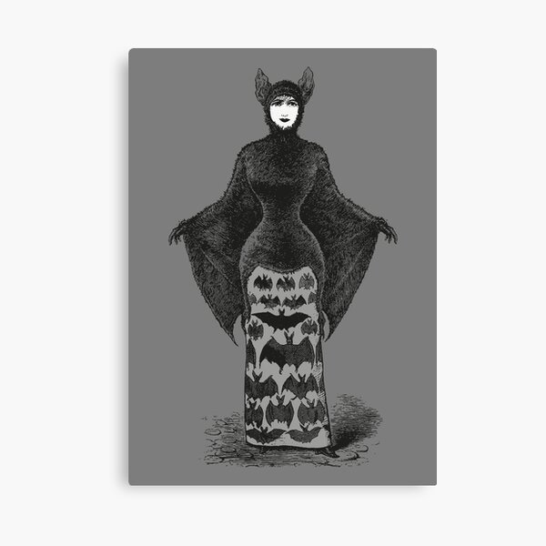 Victorian Bat Woman | Victorian Halloween Costume | Victorian Bat Costume | Canvas Print