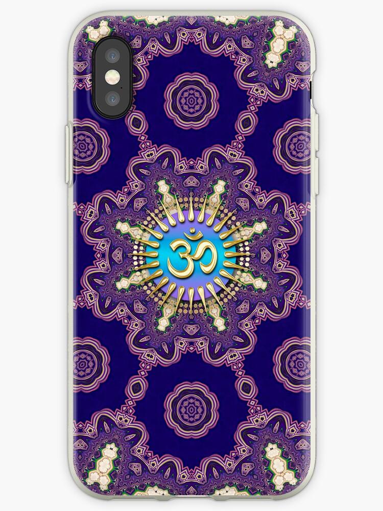 Geometric Mandala Golden OM iPhone iPod Touch Case by webgrrl