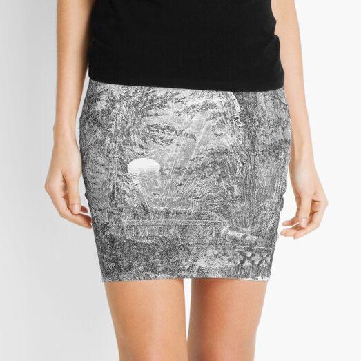 The Atlas of Dreams - Color Plate 4 b&w version Mini Skirt