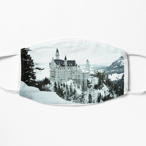 Neuschwanstein Castle in the Snow Mask