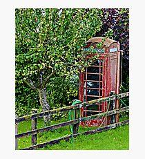 uk phone box  Photographic Print