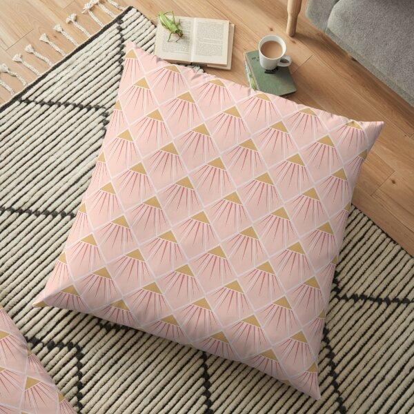 Art Deco Pink Cone Flower Floor Pillow