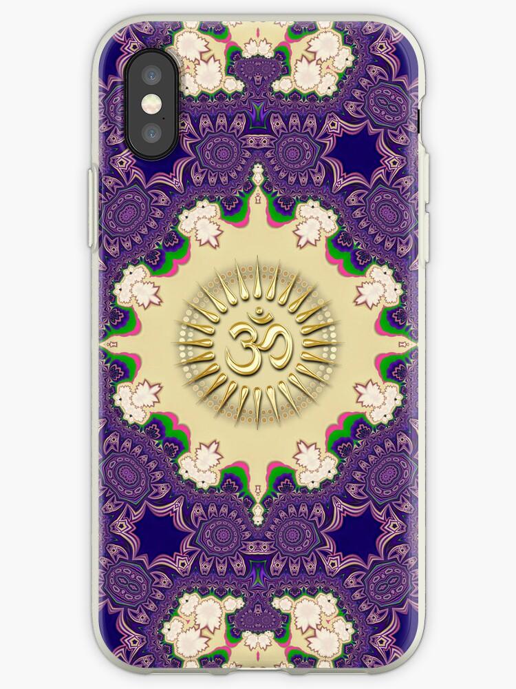 Fractal Lace Gold Aum iPhone & iPod Case by webgrrl
