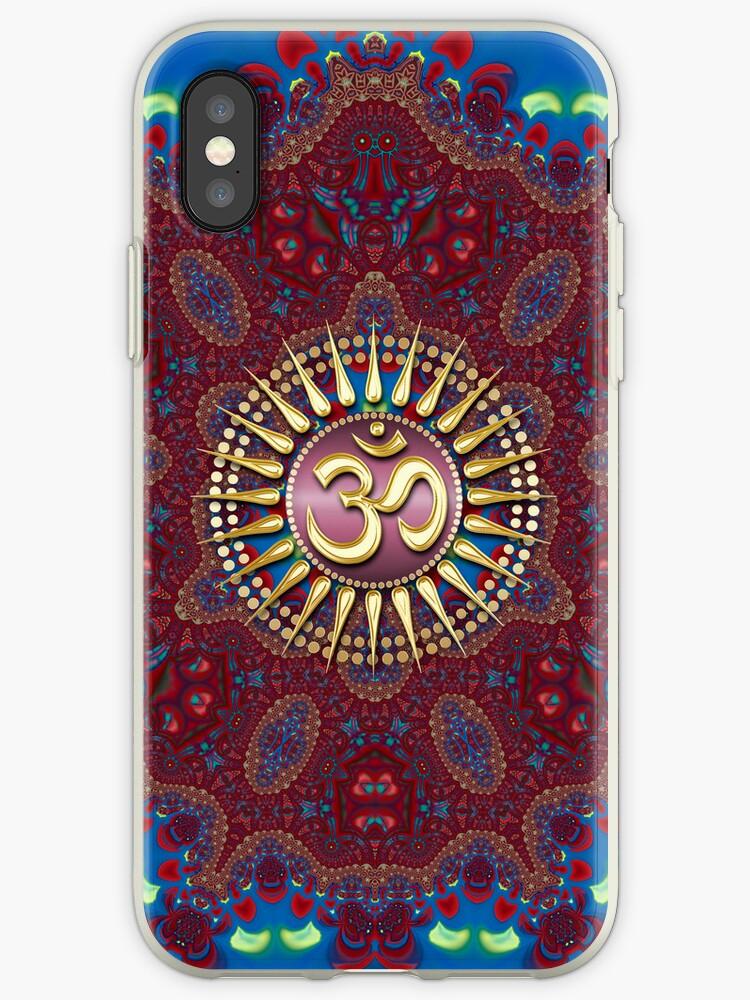 Earth Batik Golden OM iPhone & iPod Touch Case by webgrrl