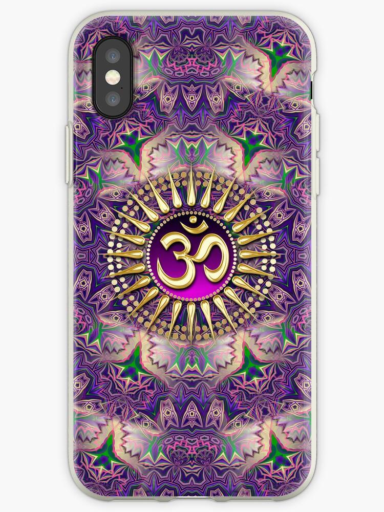 Purple Bohemian Pattern iPhone + iPod Touch Case by webgrrl