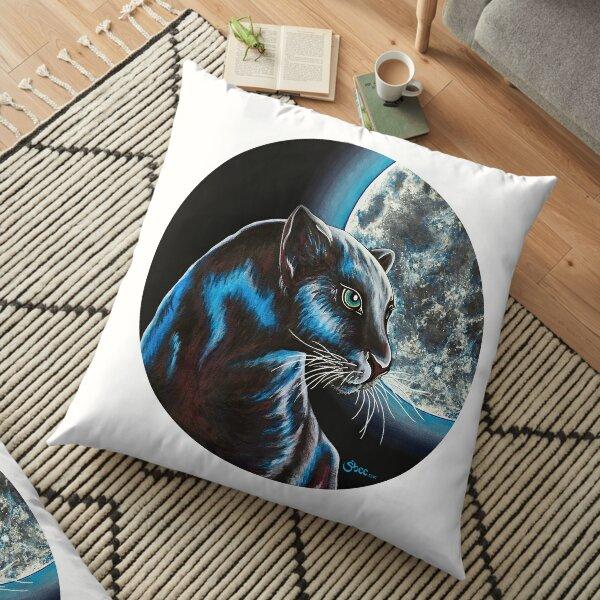 Moon Panther - Shee Endangered Retro Animals Floor Pillow