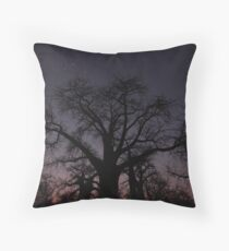 Botswana Boabab Trees Throw Pillow