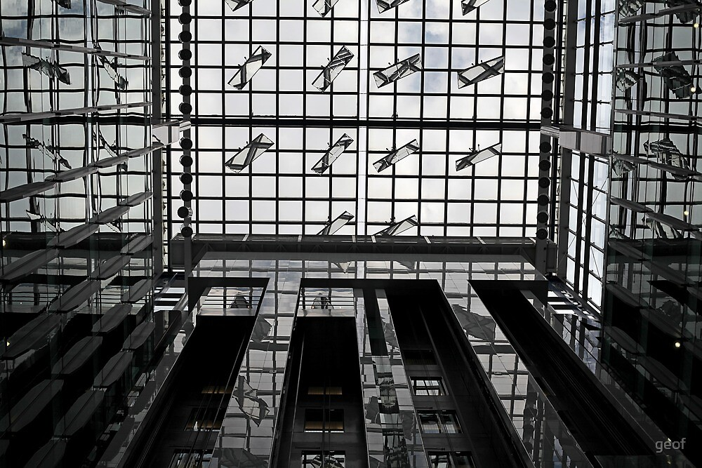 ceiling at 161 Collins St Melbourne. by geof