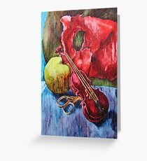 'Cutting Strings' Painting by Rebecca Greeting Card