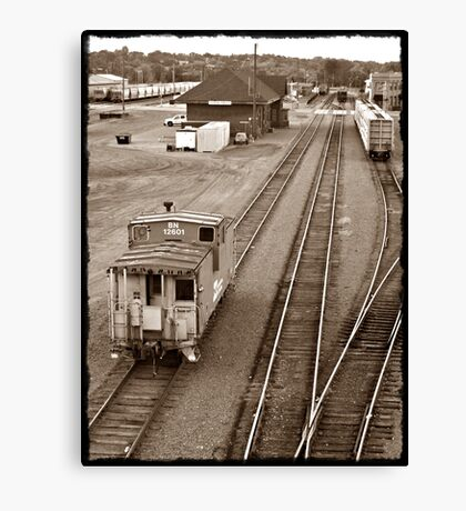 The Lonely Caboose Canvas Print
