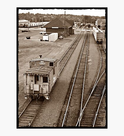 The Lonely Caboose Photographic Print