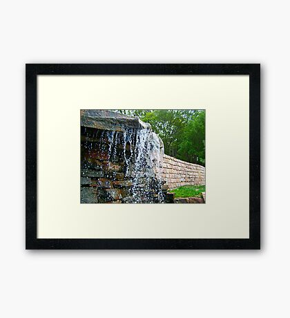 Trickling Waters Framed Print