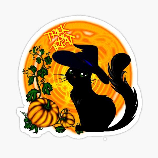 Halloween Katze - Süßes oder Saures! Sticker