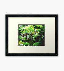 Tranquil Japanese Garden  Framed Print