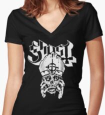 Ghost | Papa Emeritus - Decomposing Women's Fitted V-Neck T-Shirt