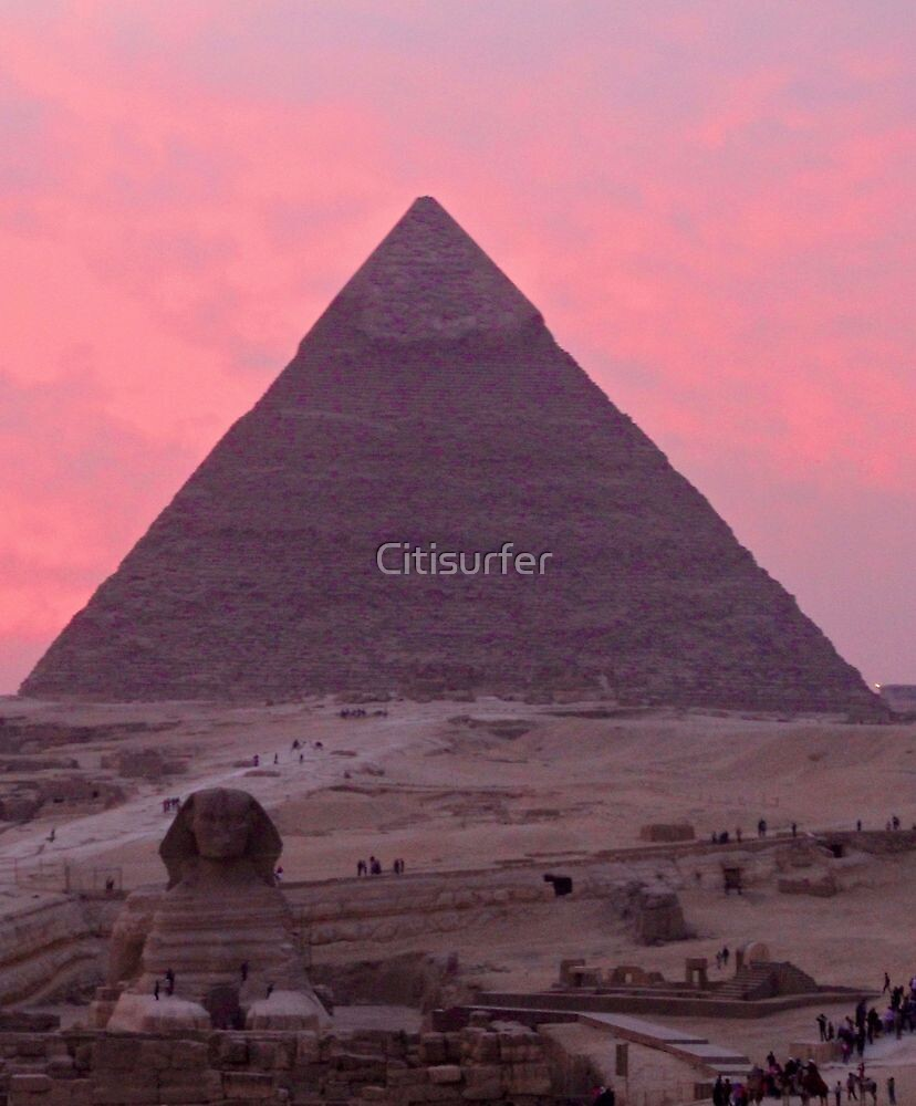 Pink Sunset at the Pyramids by Citisurfer