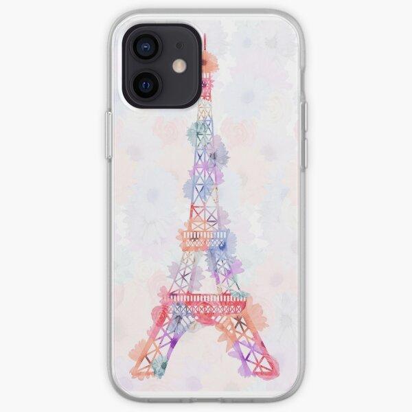 Flower Eiffel Tower Paris iPhone Soft Case