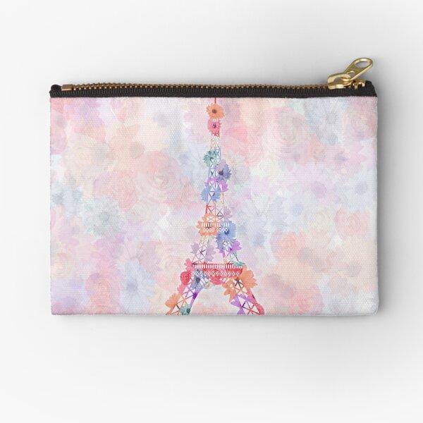 Blumen-Eiffelturm Paris Täschchen