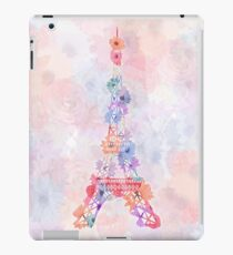 Flower Eiffel Tower Paris iPad Case/Skin