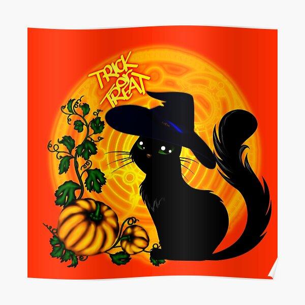 Halloween Katze - Süßes oder Saures! Poster