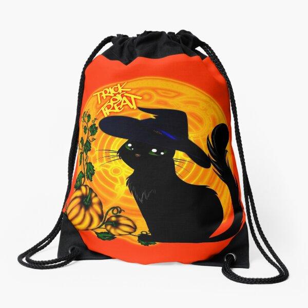 Halloween Katze - Süßes oder Saures! Turnbeutel