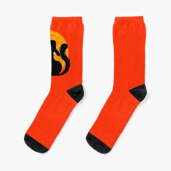 Halloween Katze - Süßes oder Saures! Socken
