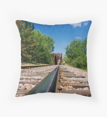 Lonesome Rails Throw Pillow