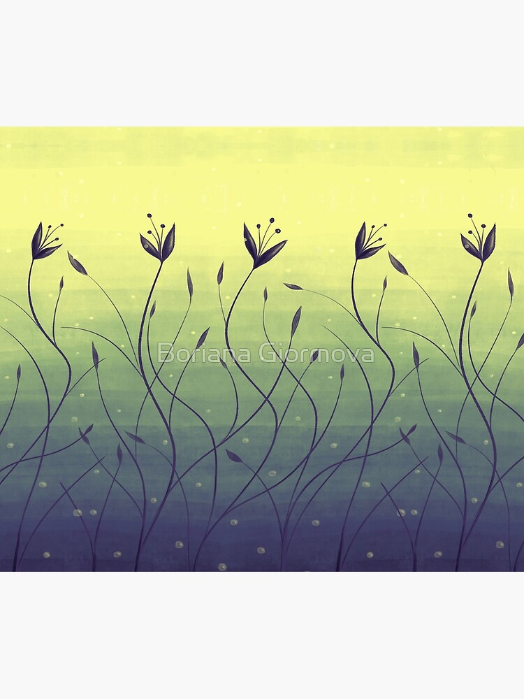 Water Plants In Green Lake Abstract Botanical Art by azzza