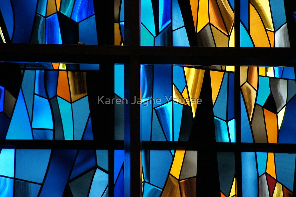 Stained Glass Abstract by Karen Jayne Yousse