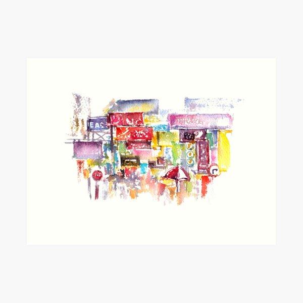 HK Mongkok Watercolors Art Print