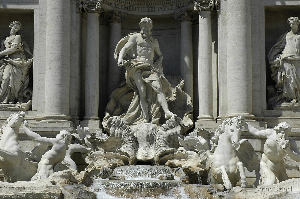 Trevi Fountain by Anne Sidnell