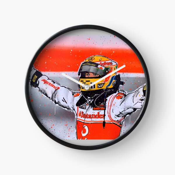 Lewis Hamilton - McLaren F1 graffiti painting by DRAutoArt Clock