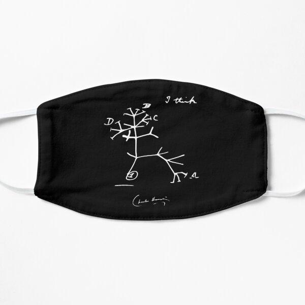 Tree of Life I Think Charles Darwin Evolutionary Sketch Flat Mask
