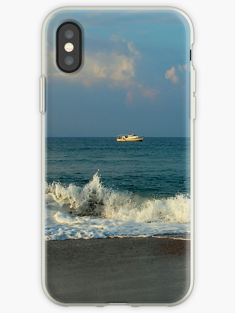 Out Fishing (iPhone Cover) by Sandy Woolard