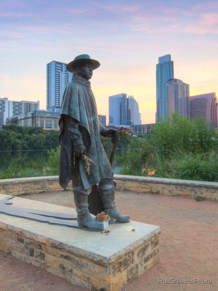 Stevie Ray Vaughan Statue in Austin Texas 1 by RobGreebonPhoto