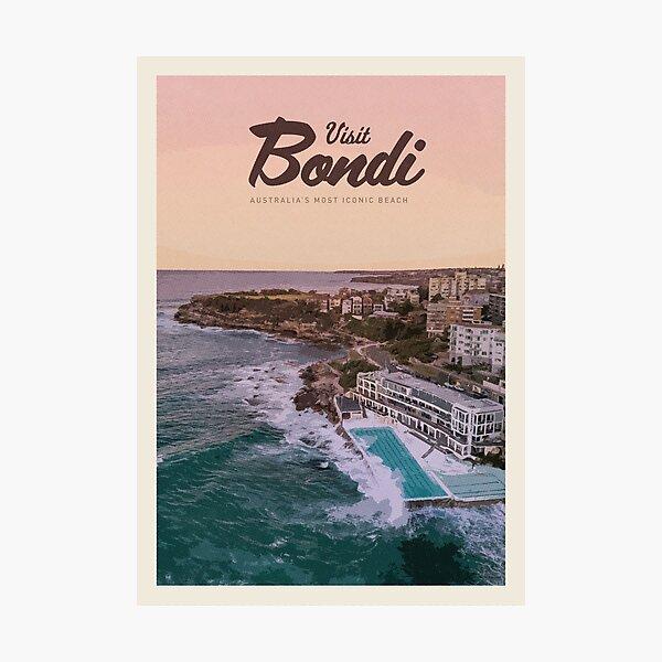 Visit Bondi Photographic Print