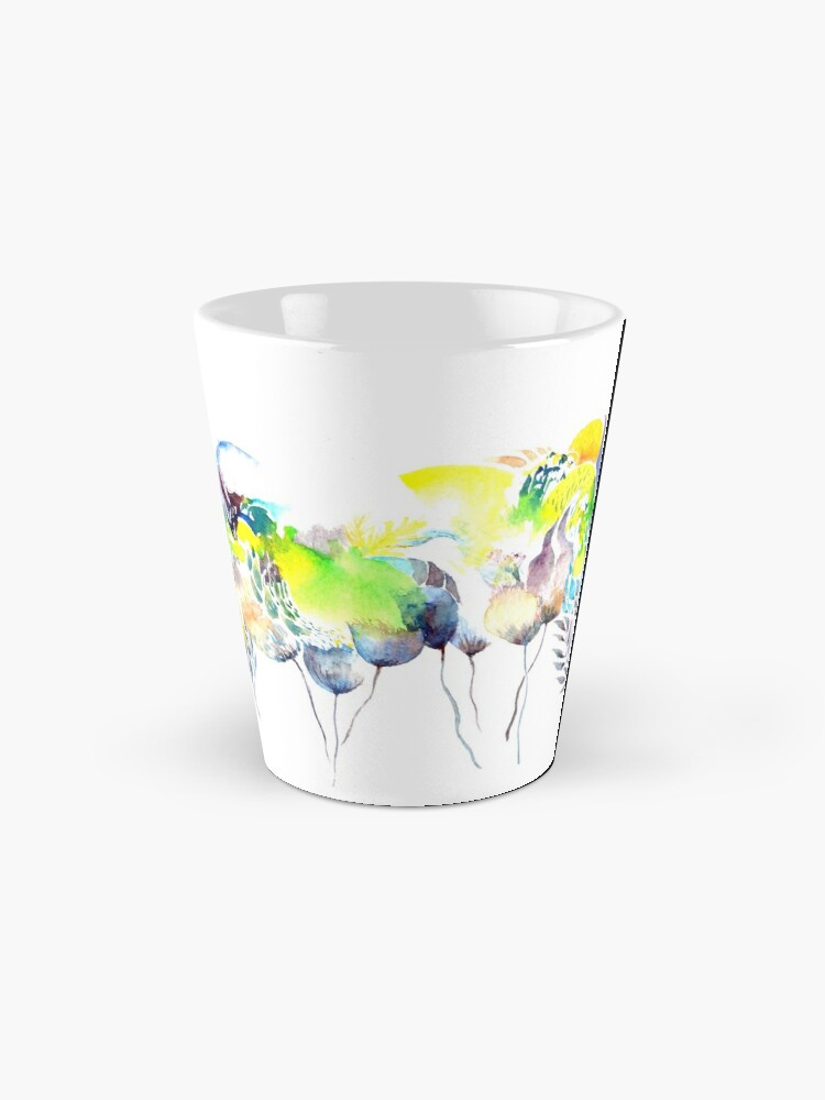 Alternate view of Abstract Blue Birds Mug