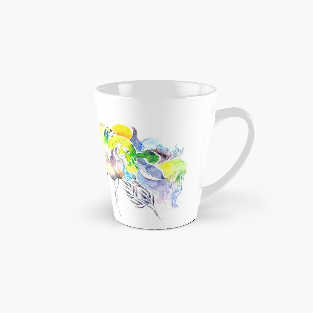 Abstract Blue Birds Mug